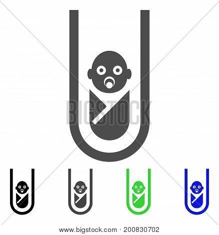 In Vitro Baby flat vector icon. Colored in vitro baby, gray, black, blue, green icon versions. Flat icon style for web design.