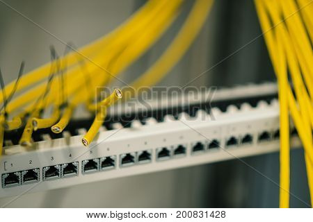 Patch Panel With Cables, Switching, Data Network Deployment
