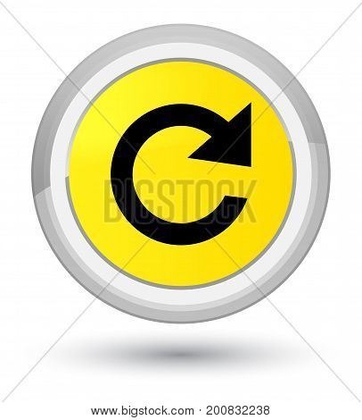 Reply Rotate Icon Prime Yellow Round Button