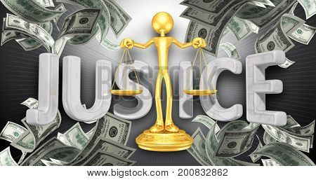 Justice Law Concept 3D Illustration