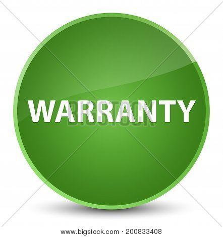 Warranty Elegant Soft Green Round Button
