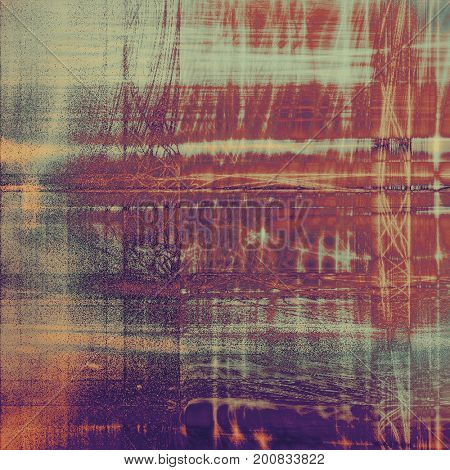 Grunge retro texture, aged background with vintage style elements and different color patterns