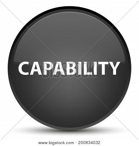 Capability Special Black Round Button