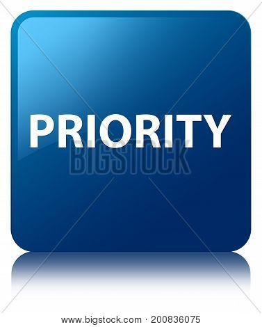 Priority Blue Square Button