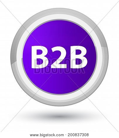 B2B Prime Purple Round Button