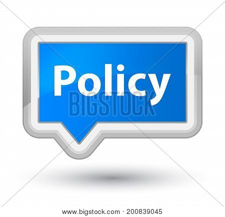 Policy Prime Cyan Blue Banner Button