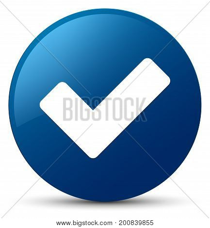 Validate Icon Blue Round Button