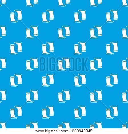 Rubber boots pattern repeat seamless in blue color for any design. Vector geometric illustration