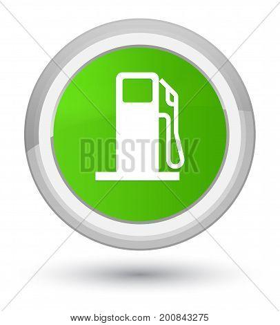 Fuel Dispenser Icon Prime Soft Green Round Button