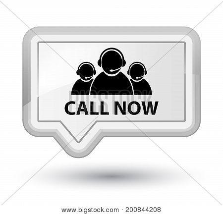 Call Now (customer Care Team Icon) Prime White Banner Button