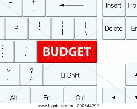 Budget Red Keyboard Button