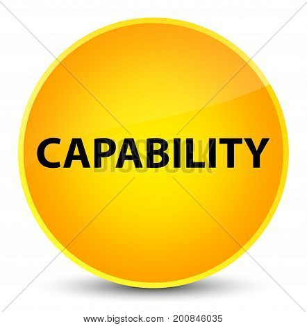 Capability Elegant Yellow Round Button