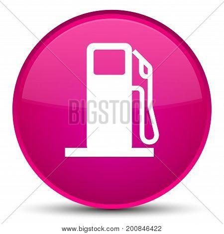 Fuel Dispenser Icon Special Pink Round Button
