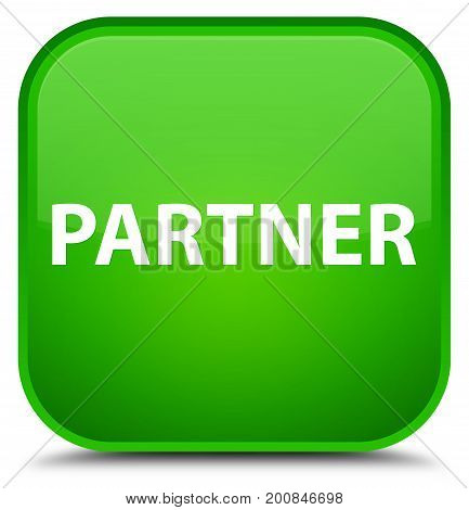 Partner Special Green Square Button