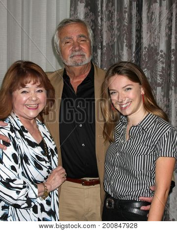 LOS ANGELES - AUG 20:  Patrika Darbo, John McCook, Courtney Grosbeck at the Bold and the Beautiful Fan Event 2017 at the Marriott Burbank Convention Center on August 20, 2017 in Burbank, CA