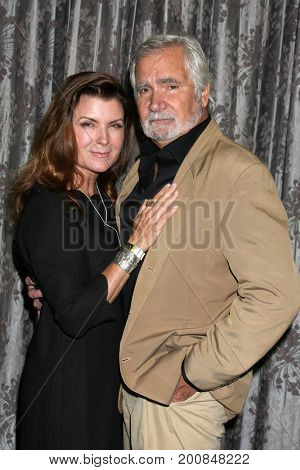 LOS ANGELES - AUG 20:  Kimberlin Brown, John McCook at the Bold and the Beautiful Fan Event 2017 at the Marriott Burbank Convention Center on August 20, 2017 in Burbank, CA