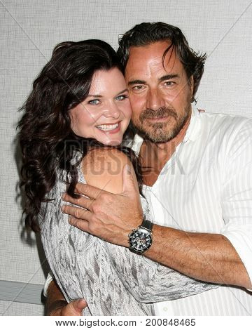 LOS ANGELES - AUG 20:  Heather Tom, Thorston Kaye at the Bold and the Beautiful Fan Event 2017 at the Marriott Burbank Convention Center on August 20, 2017 in Burbank, CA