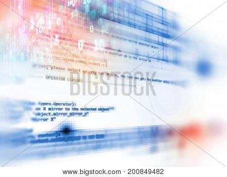 Digital Code Number Abstract Technology Background