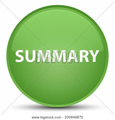 Summary Special Soft Green Round Button