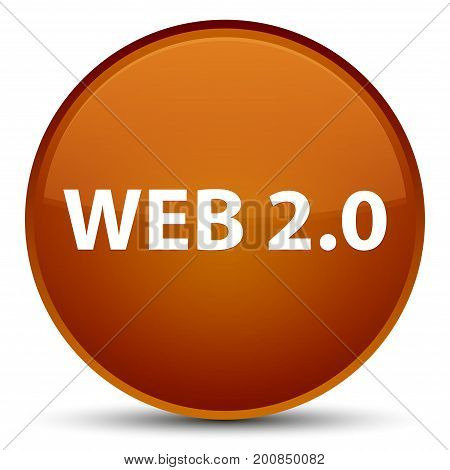 Web 2.0 Special Brown Round Button