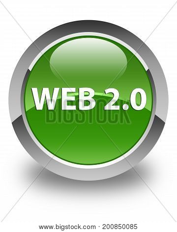 Web 2.0 Glossy Soft Green Round Button