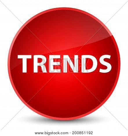 Trends Elegant Red Round Button