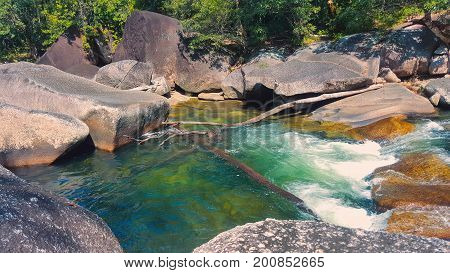 Devil's pool or Babinda Boulders tourist attraction near Cairns
