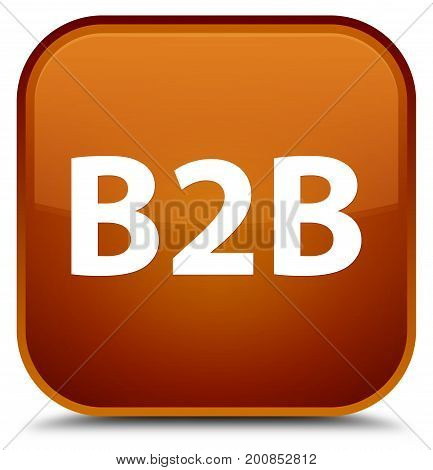B2B Special Brown Square Button