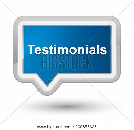 Testimonials Prime Blue Banner Button
