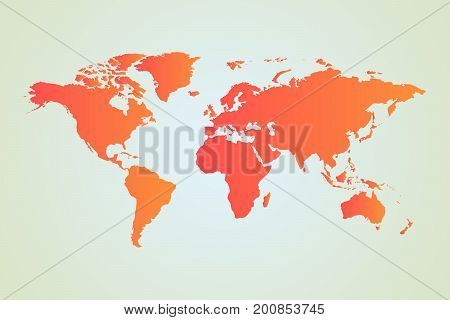 political world map vector drawing with background