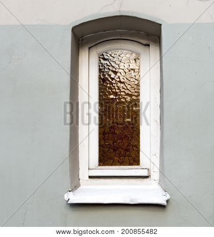 Decorative window at medieval building, Riga, Latvia, Europe