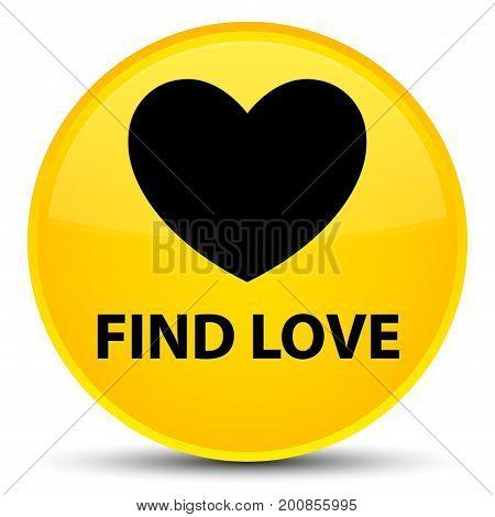 Find Love Special Yellow Round Button