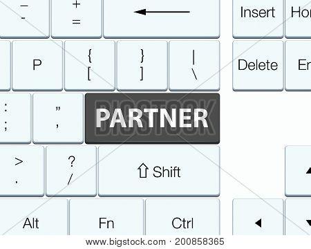 Partner Black Keyboard Button