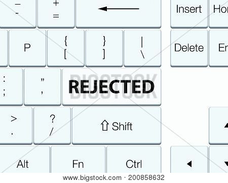 Rejected White Keyboard Button