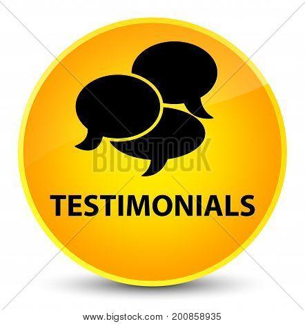 Testimonials (comments Icon) Elegant Yellow Round Button