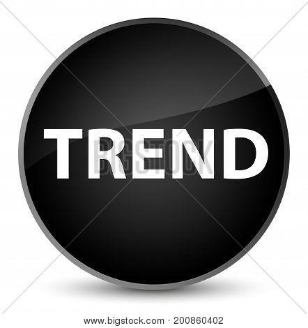 Trend Elegant Black Round Button