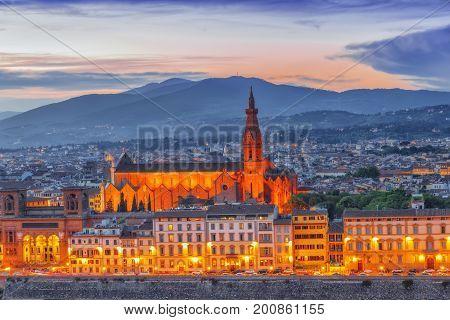 Basilica Of Santa Croce (basilica Di Santa Croce Di Firenze) On  Holy Cross Square (piazza Di Santa