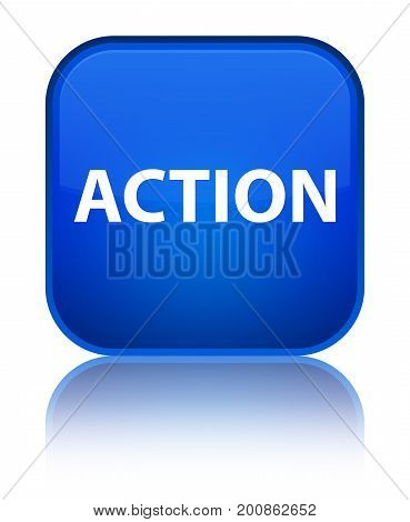 Action Special Blue Square Button