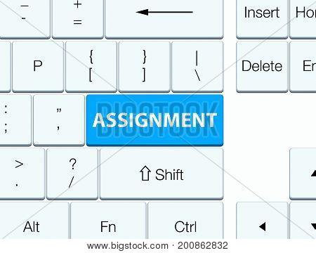 Assignment Cyan Blue Keyboard Button