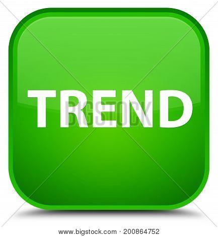 Trend Special Green Square Button