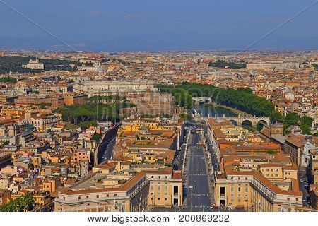 View of the Saint Peter's Square, Vatican Rome Italy