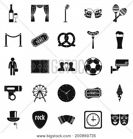 Occasion icons set. Simple set of 25 occasion vector icons for web isolated on white background