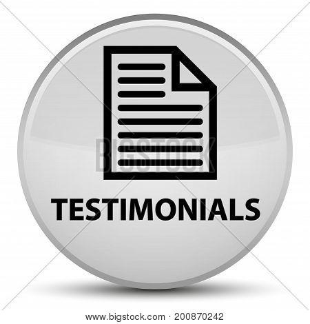 Testimonials (page Icon) Special White Round Button
