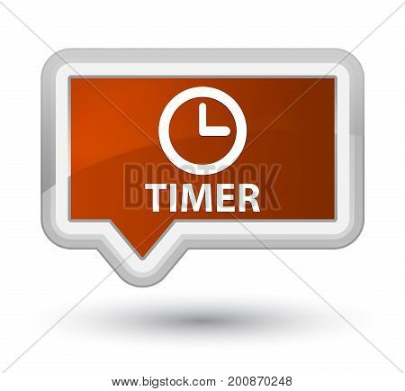 Timer Prime Brown Banner Button