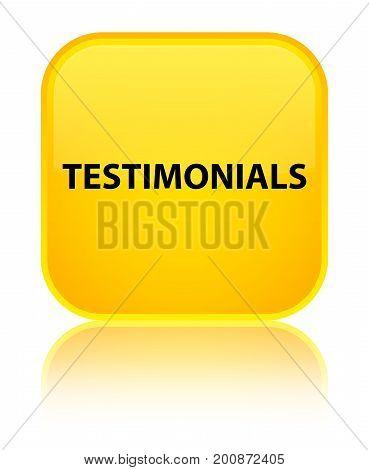 Testimonials Special Yellow Square Button