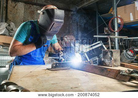 Welder Brewing A Metal Welding Machine
