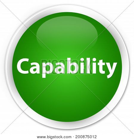 Capability Premium Green Round Button