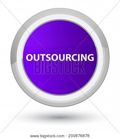 Outsourcing Prime Purple Round Button