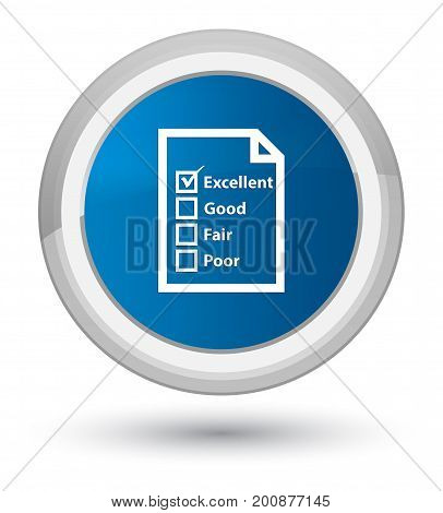 Questionnaire Icon Prime Blue Round Button