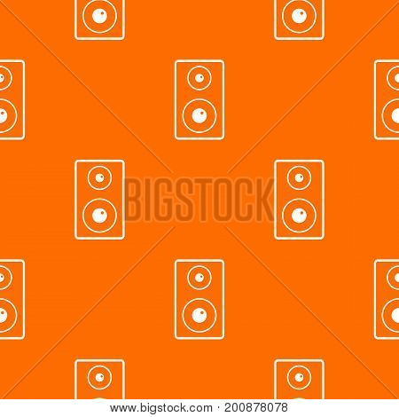 Subwoofer pattern repeat seamless in orange color for any design. Vector geometric illustration